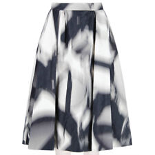 Giles Deacon Black Grey White Voluminous Flared Skirt IT44 UK12