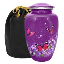 Mystic Butterfly Adult Cremation Urn for Human Ashes - With Velvet Bag
