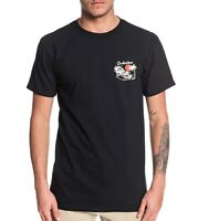 Quiksilver Mens T-Shirt Black Size XL Pig Party Graphic Crewneck Tee $25 074