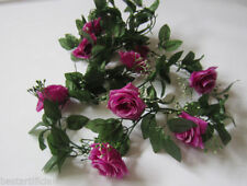 Rose Plastic Dried & Artificial Flower Garlands