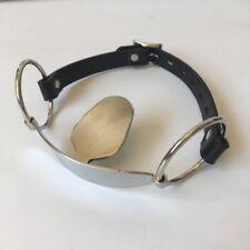 PU Leather Belt Stainless steel Bondage Stuffed Mouth Gag Restraints