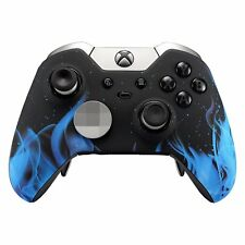 """Blue Fire"" Xbox One ELITE Rapid Fire Modded Controller 40 Mods for COD Fortnite"