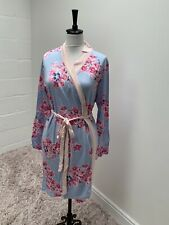 Joules Womens Jasmine Printed Jersey Dressing Gown - BLUE FLORAL Size L/XL 16/18