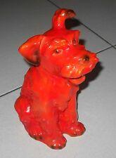 GOEBEL Vecchio cane TERRIER IN CERAMICA 1935 – 1949 Porzella figure hund statua