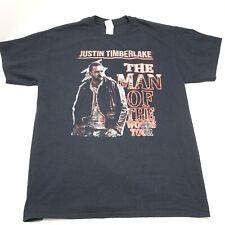 Justin Timberlake 2019 Man Of The Woods Tour Tee T-Shirt Black Large