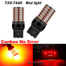 2pc Super Bright T20 7440 W21W 144SMD LED Light Canbus Car Turn Signal Lamp Red