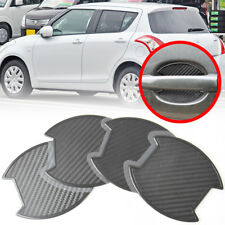 Carbon Texture FOR Suzuki Swift 3rd 4th 5D 4D Door Bowl Sticker Decoration 10-17
