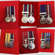 2 x Supplied & Court Mounted Miniature Medal Group Choose Your Miniature Medals