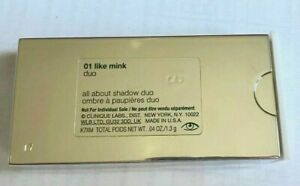 CLINIQUE Eyeshadow All About Shadow Duo 01 LIKE MINK 0.04oz / 1.3g