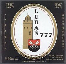 Poland Brewery Lwówek Lubań 777 Beer Label Bieretikett Cerveza ls83.1