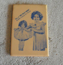 Vintage 1930s Small Shirley Temple Wee Willie Winkie Mirror Back