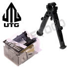 UTG Sniper Hunting Rifle Durable Aluminum Barrel Clamp-on Bipod Rubber Feet 5.1