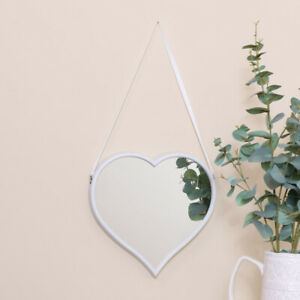Large White Love Heart Wall Mounted Mirror Bedroom French Fancy