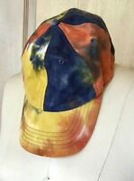 Urban Outfitters Baseball Hat Tie Dye blue rust yellow Adjustable O/S NEW