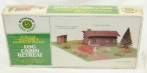 NIB Vintage Bachmann Scenic Classics Log Cabin Retreat No. 1985 O Scale Kit