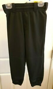 """Rawlings YOUTH BASEBALL PANT BELTED  31 CLOTH FIT (Black, Med (24""""-25"""") MSRP $20"""