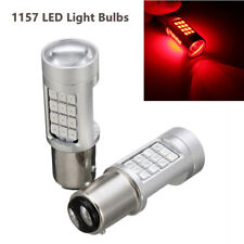 2PCS 1157 LED Car Red Flash Strobe Blinking Alert Safety Brake Tail Stop Bulb