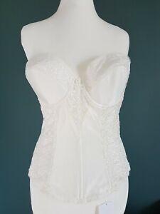 Brautcorsage Di Lorenzo Korsage Creme weiß Braut Unterwäsche Dessous 60 E rücken