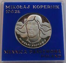 1974 Poland Polen 100 zl zlotych Proof Silver 625 Birth of Mikolaj Kopernik