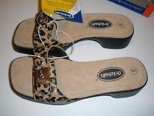 Dr Scholl's Womens 5 Animal Print Slip-on  Leopard Slide Sandals Shoe