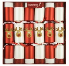 Robin Reed H8 Christmas Holiday 6pc 12in Racing Crackers Glitter Reindeer 701