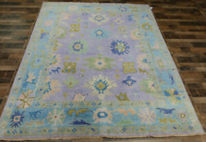 8'x10' New Fine Turkish Oushak Transitional Hand knotted wool Oriental area rug