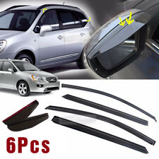 Smoke Window Vent Visor + Side Mirror Rain Guard 6Pcs For KIA 2007 - 2011 Rondo