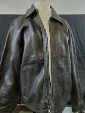 Tommy Hilfiger Leather Jacket Black Mens M Authentic Real Leather