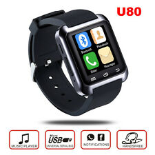 U80 Touch Screen Montres Bluetooth Smart Watch Phone Mate For Android iPhone HTC