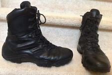 Bates Delta-8 Side Zip Leather Boots Military Police 11.5  E02348