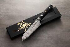 ZHEN Thunder Series 101 Layers German Damascus Steel Small Santoku Knife 5-inch
