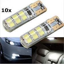 10x T10 W5W 2835 12SMD LED Canbus Error Free Silica Light Bulb Xenon White 6000K