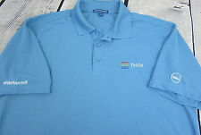 Men's Dell Computers Gay Pride Be Yourself Golf Polo Work Shirt Uniform XL