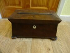 More details for large victorian antique wooden sarcophagus tea caddy no key height 20 cm x 36 cm
