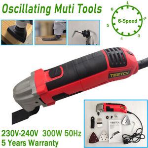 Electric Oscillating Multi Function Sander Scraper Cutter Power Tool Set 6-Speed
