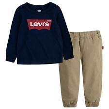 Levis Baby Boys (2 Pc) Batwing Logo Pants Set (L/S Top + Pants) 12 Months Nwt