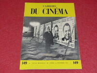 [REVUE LES CAHIERS DU CINEMA] N° 149 # NOVEMBRE 1963 FRANJU &c... EO 1rst Print.
