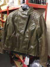 Triumph Ladies Barbour Brown Leather Jacket NEW Size XXL