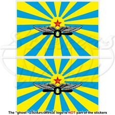 "SOVIET UNION Air Force Flag USSR CCCP 100mm (4"") Vinyl Bumper Stickers Decals x2"