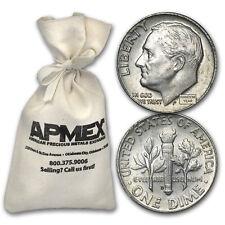 90% Silver Roosevelt Dimes $50 Face-Value Bag - SKU#166816
