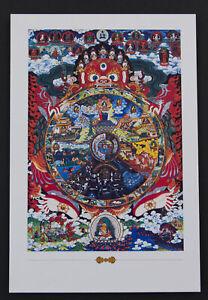 Postcard Tibetan La Wheel Of Life Bhavachakra Mandala Buddhist 26292