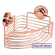 Naleon Instaloc Corner Basket Rose Gold - Shower Caddy Removable Bathroom