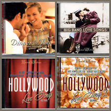 4 x Romantic Love Songs Music CD,Big Band,Hollywood,Dinner Music,Valentines Day