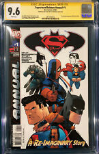 ED MCGUINNESS SIGNED SUPERMAN BATMAN SKETCH ANNUAL #1 CGC 9.6 COMIC BOOK CBCS