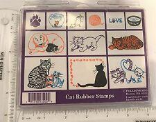 Inkadinkado CAT Kitten Animals Foam Rubber Stamps Set Lot of 10