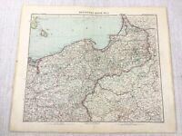 1907 Antik Map Of Deutschland Posen Preußen Polen Pommern Deutsche Reich