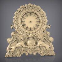 (891) STL Model Clock for CNC Router 3D Printer  Artcam Aspire Bas Relief