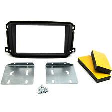 Radioblende Doppel-DIN Einbaurahmen Autoradio für SMART ForTwo ab 2011 schwarz