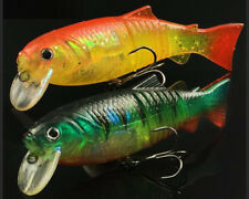 2PCS Soft Fishing Lure Soft Tail Bait Shad Soft Plastic Swimbait Bass Perch