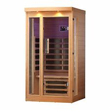 1-Person FAR Infrared Sauna with 6 Carbon Infrared Heaters, Bluetooth and LEDs